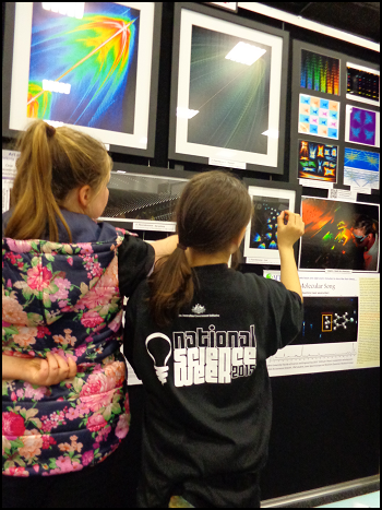 Art of Fluorescence display at Science Alive